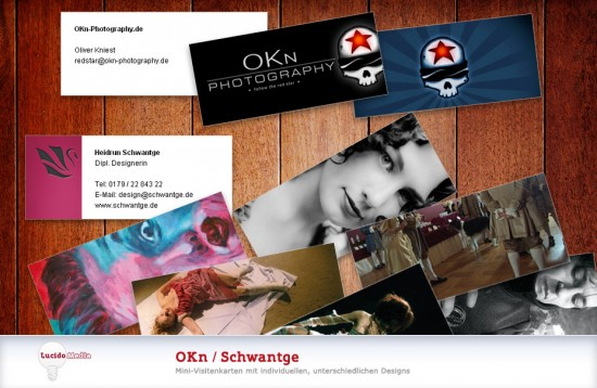 Mini-Visitenkarten Printdesign