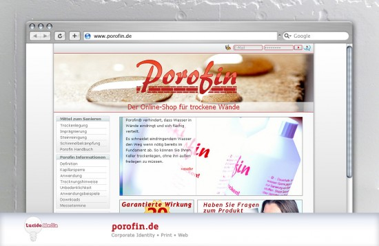 porofin website
